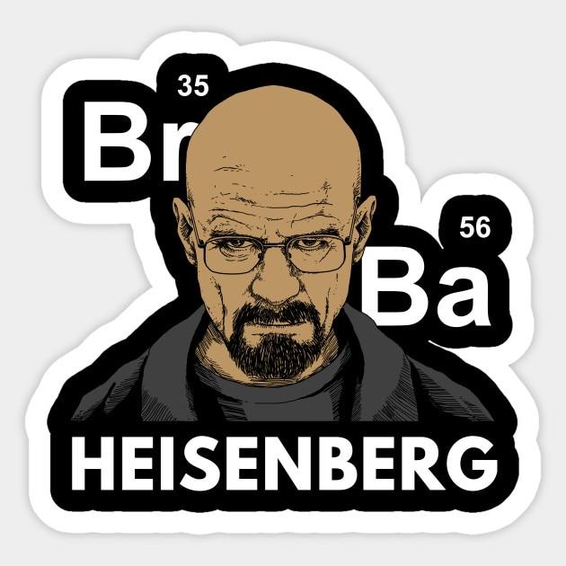 1 Uds rompiendo mal adhesivo de Heisenberg etiqueta de vinilo para computadora portátil del coche ventana Moto Vinilos Paredes pegatina negra para pared