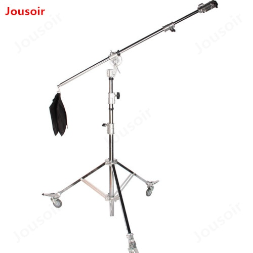 5.3m heavy duty light stand oblique arm lamp holder overhead lighting frame shadow ceiling hanger rod bearing 10kg CD15