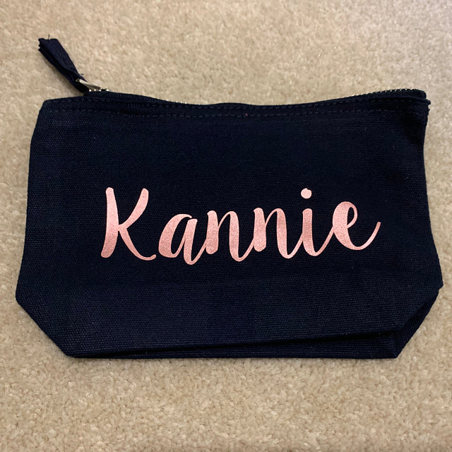 personalize rose pink wedding bride Bridesmaid maid of honour Makeup Gift Make Up comestic Bags kits pouches flower girl gifts