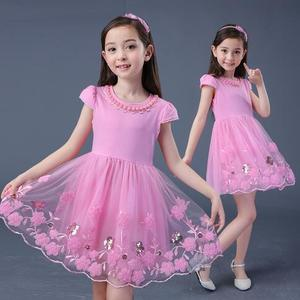 Girls Dress 2019 New Summer Cute Dresses Lace Ball Grown Dress Fashion Flowers Children Clothing Kids Clothes Girls Party 4-15T