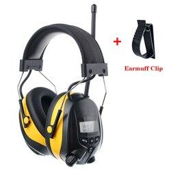 NRR 25dB MP3 BIN FM Radio Gehörschutz Muffs Elektronische Gehörschutz Lärm Reduktion Sicherheit Ohrenschützer für Arbeits