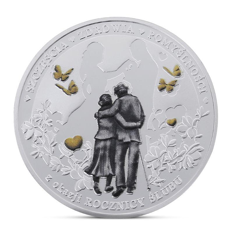 Spanish Love Commemorative Coin Silver Plated Souvenir Art Collection