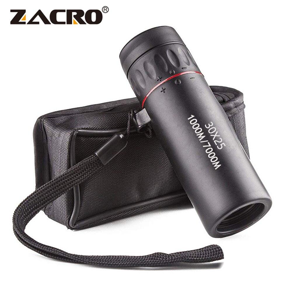 Telescopio Monocular de alta definición Zacro 30X25 impermeable Mini Zoom militar portátil 10X Scope para caza de viaje