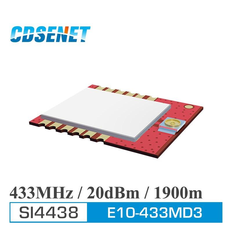 Wireless rf Receiver SI4438 433MHz Long Range Transceiver CDSENET E10-433MD3 SPI 100mW Wireless Transmitter iot rf Module
