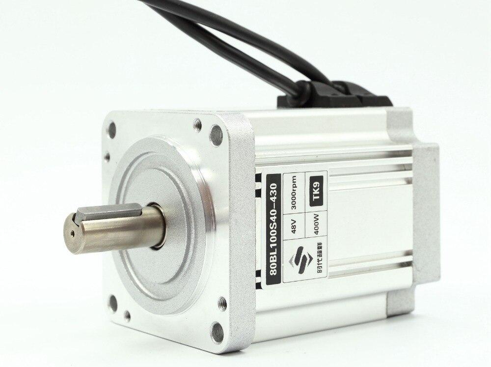 Comprimento quadrado 400mm do corpo da flange 80 mm da c.c. do motor 48 v sem escova 3000 w 100 rpm