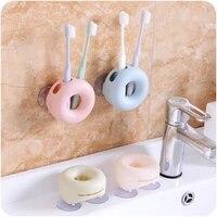 Brosses a dents murales de maison   Fournitures de toilette pratiques creatives  outils de salle de bain de couleur douce