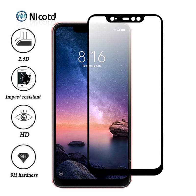 Cristal templado Nicotd para Xiaomi Redmi Note 6 Pro 4X 4A 5A 5 Plus Protector de pantalla para Redmi 6A 6 Note 5A 5 Pro película de cubierta completa