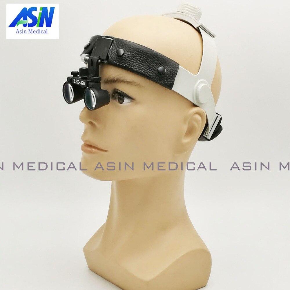 CHEGADA NOVA frete grátis 2.5 x fone de ouvido desgaste Da Cabeça lupas cirúrgicas Dental Lupa lupa de alta qualidade ângulo ajustável fácil de usar