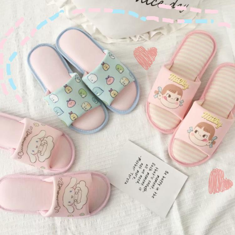 Cinnamoroll Sumikko Gurashi Inverno Indoor Chinelos Sapatos Boneca Coleção de Bonecas Brinquedos de Pelúcia Presente Para As Crianças Adoram Pet #1698