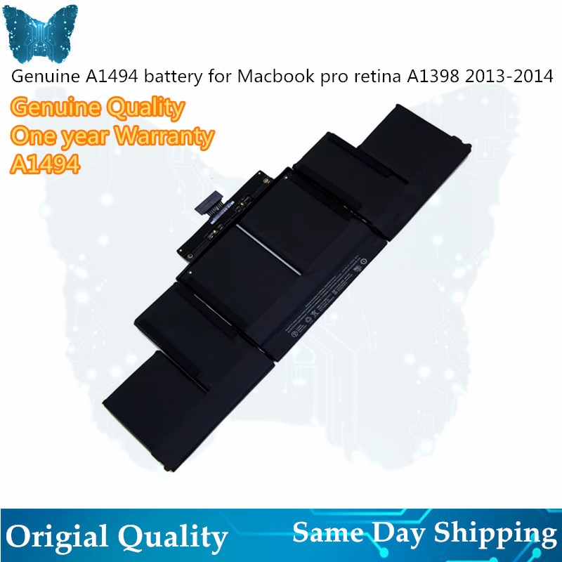 "Original A1494 batería para Macbook Pro 15 ""pulgadas Retina A1398 batería a finales de 2013 a mediados de 2014 MGXC2 MGXA2 ME293 ME294 95Wh 11,26 V"