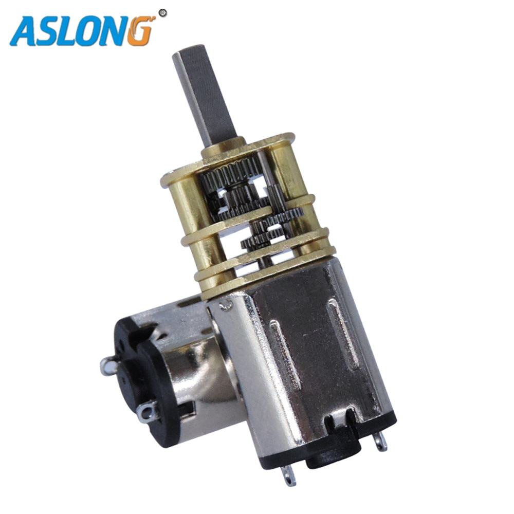 JGF10-M10 pequeño micro alto torque 3v 44rpm dc motor eléctrico con engranaje de alta precisión ASLONG para bloqueo de huella dactilar