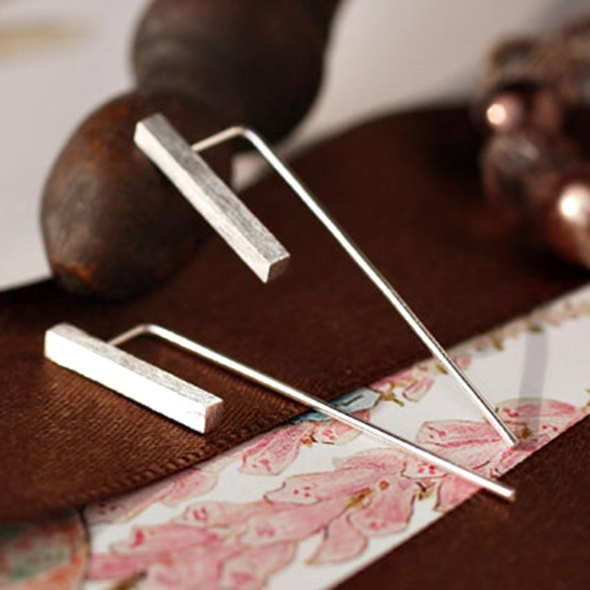 Pendientes de diseño Simple de margaritas de Plata de Ley 925 para mujer