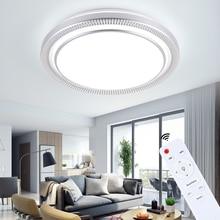 Moderne 220v 80w LED ronde plafonniers lampes luminaires avec télécommande pour intérieur maison maison salon cuisine chambre