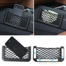 Filet de rangement de siège de voiture   Filet universel inhabituel de rangement du dos du siège de voiture organisateur de poche pour téléphone maille noire