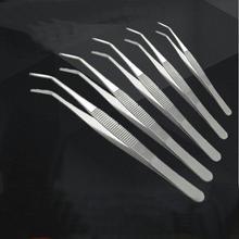 10 adet/grup kalınlaşmak paslanmaz çelik tıbbi kavisli cımbız, dirsek kafa cerrahi cımbız kelepçe 12.5/14/16/18/20/25cm