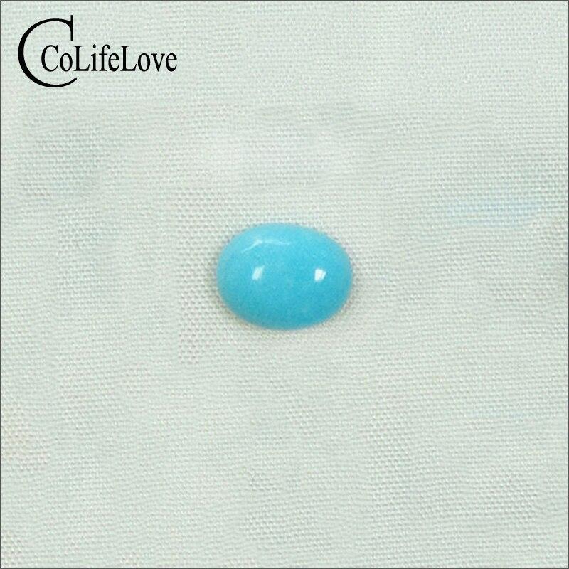 5mm * 6mm real Natural Turquesa Gemstone Solta Nenhum Tratamento Turquesa Solta Pedra Preciosa para a Jóia DIY
