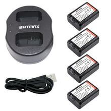 4 pièces 2000 mah NP-FW50 NP FW50 Batterie + Chargeur USB Pour Sony NEX-7 NEX-5N NEX-F3 NEX-3D NEX-3DW NEX-3K NEX-5C NEX-5DB Alpha 7R II