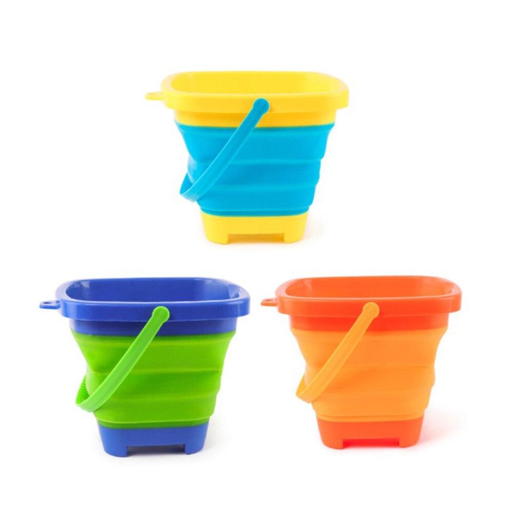 Juego de playa de plástico y arena plegable para niños, cubo y...