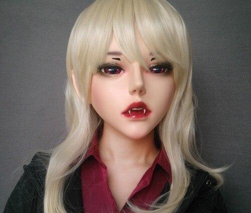Artesanal Feminino Masculino Resina Crossdress Bonita Menina Bjd Máscaras Halloween Festa Vampiro Cosplay Máscara Novo-53