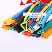 Caoutchouc U bande bord bouclier enfermer lié 1.5-6mm verre métal panneau de bois feuille voiture véhicule Auto pare-chocs joints bleu vert Orange