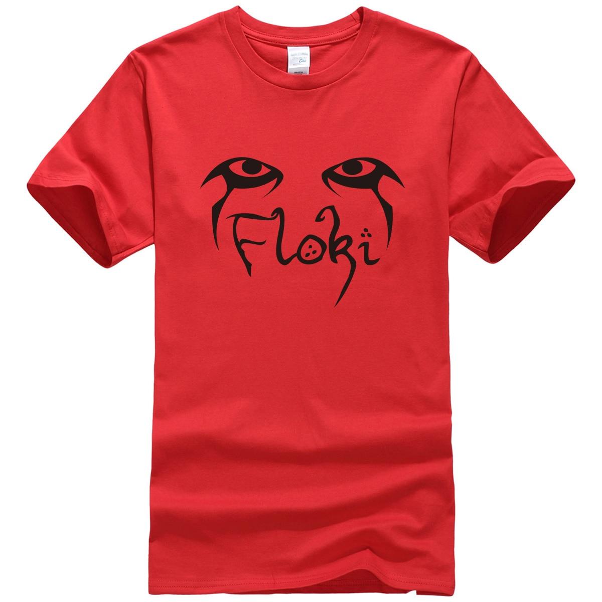 Мужская Уличная футболка VIKINGS FLOKI, хлопковая Футболка в стиле хип-хоп на весну и лето 2019