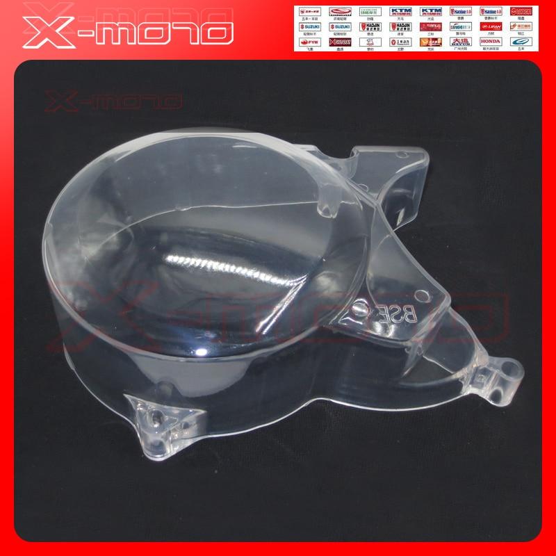 Funda transparente para motor de plástico para Lifan YX, arranque de motor Horizontal Zongshen Yingxiang, piezas de motor dirt pit bike