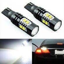 2x T10 194 W5W CREE Chip Led blanco 50W con lente proyector de aluminio bombillas DRL coche Interior reversa fuente de luz