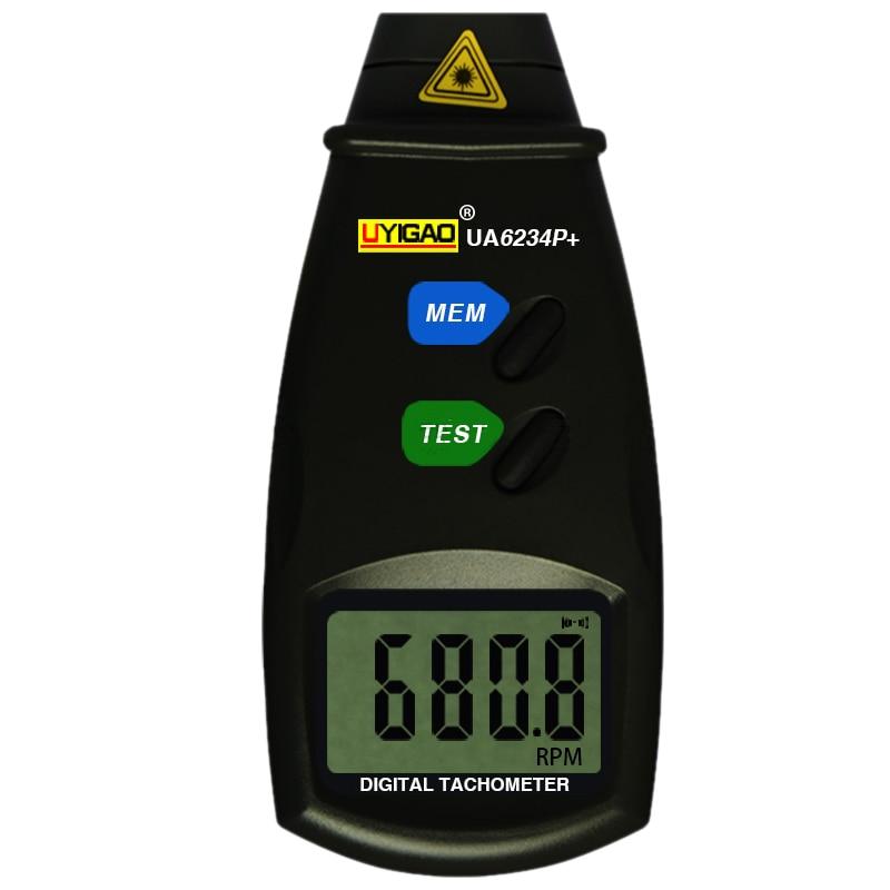 LIXF-UYIGAO UA6234P + foto Digital láser tacómetro sin contacto RPM medidor de Motor