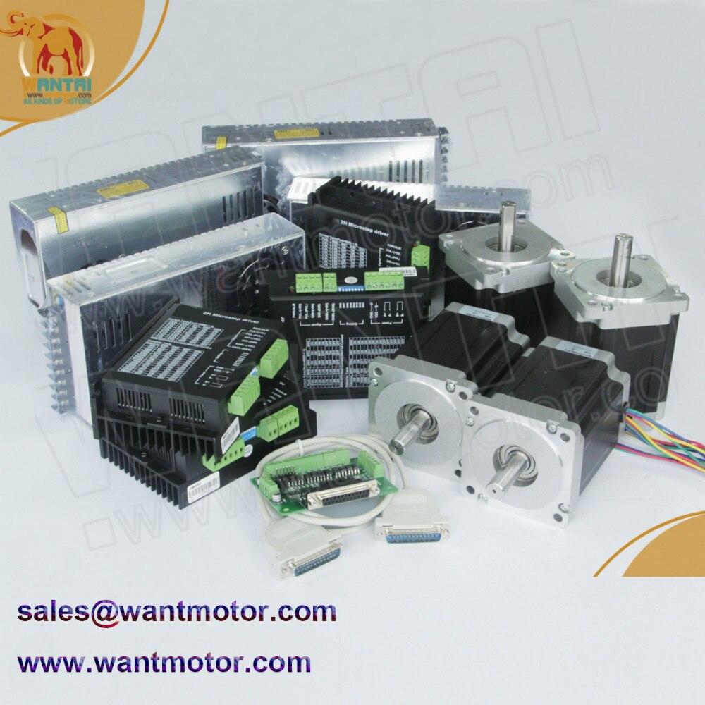 (Alemania envío gratuito a Alemania) Motor paso a paso Nema 34 Wantai de 4 ejes 1600ozoin, 3.5A, grabado en molino CNC, láser, impresora 3D