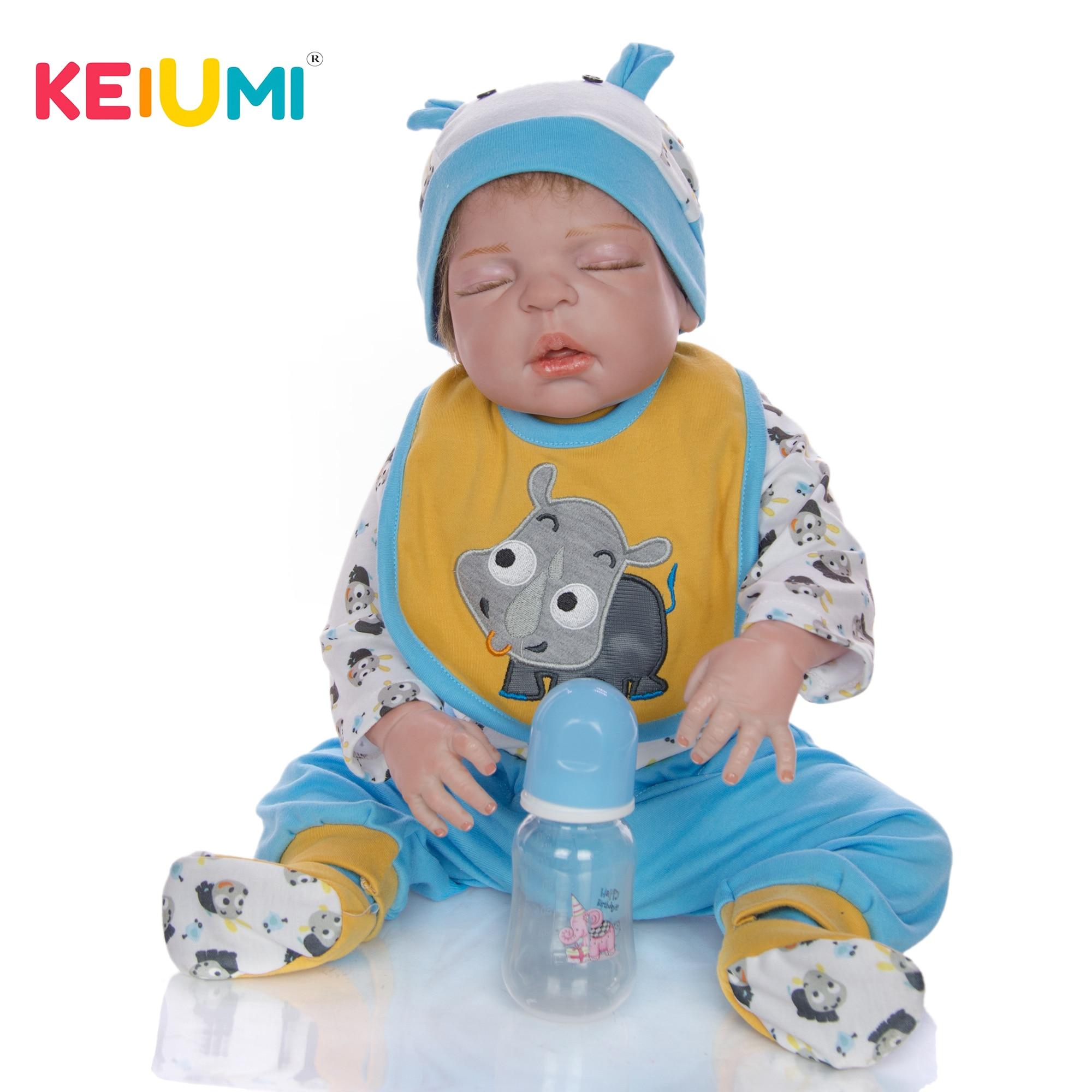 Muñecas Reborn realistas de 23 pulgadas y 57 cm, cuerpo completo de vinilo, silicona, muñeco realista para niños que duerme, juguetes para niños, regalos de cumpleaños