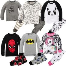 100 baumwolle Baby Mädchen Pyjama Sets Kinder Volle Hülse Nachtwäsche Jungen Pyjama Mädchen Pijama De Unicornio für 1-8 jahre
