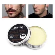 30g naturel Moustache barbe huile baume barbe cire pour coiffer cire dabeille cheveux barbe croissance hydratant lissage messieurs barbe