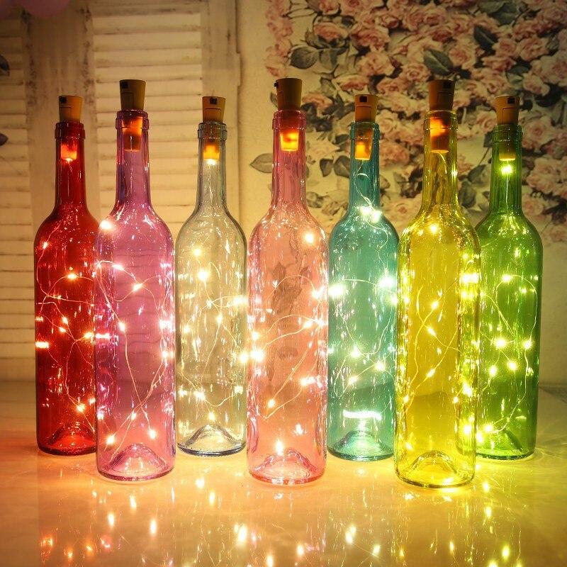 20 светодиодов 2 м микро пробкового света Мини Стеклянная Пробка для винных бутылок светодиодная веревка Марсон баносветильник s для свадебн...