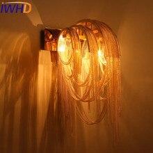 IWHD lampe murale en fer de Style nordique, modèle de mode pour chambre à coucher éclairage de la maison escaliers