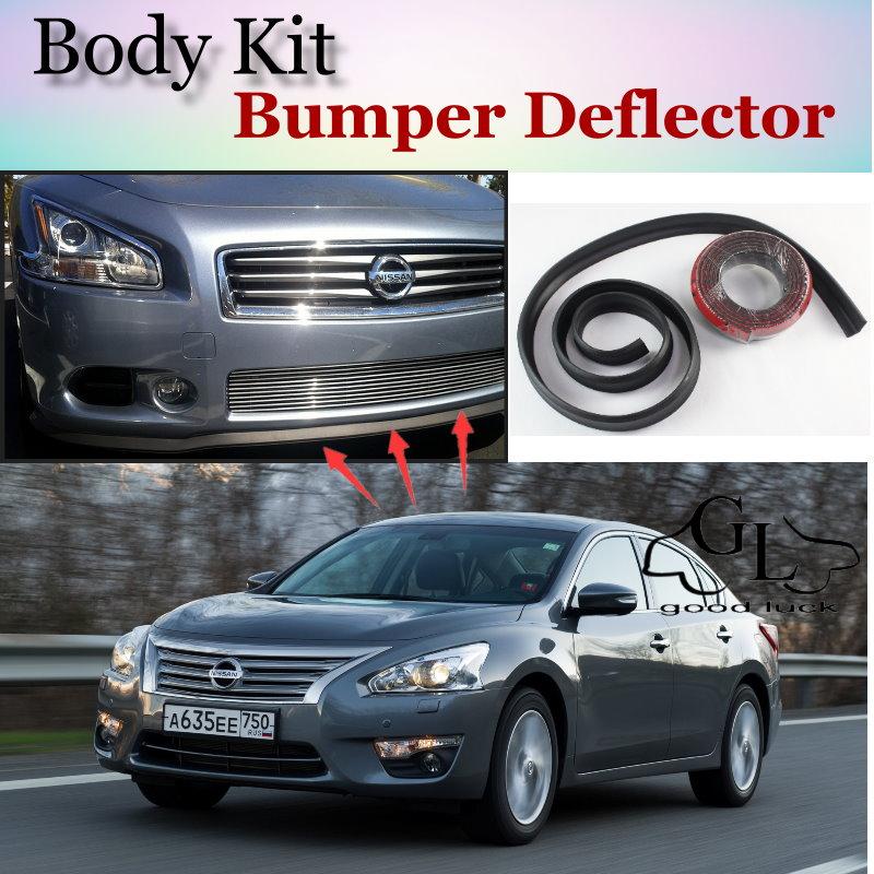 Bumper Lip Deflector Lips For Nissan Altima L31 L32A D32 Teana L33 Front Spoiler Skirt For TG Fans Car Tuning / Body Kit / Strip
