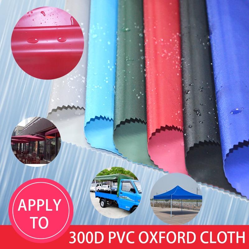Tela oxford recubierta de pvc de 100x150cm, tamaño 300D, tela impermeable para sombra de sol, sombrilla de playa, tela Oxford