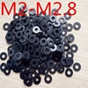100pcs M2-M2.8 עובי 0.15/0.2/0.25/0.3mm דיוק גבוה שחור צבע Polyslider גרפיט ניילון שטוח מכונת כביסה