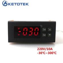 RC-114M cyfrowy termostat Regulator AC 220V 10A Regulator temperatury-30 ~ 300 stopni z czujnik NTC