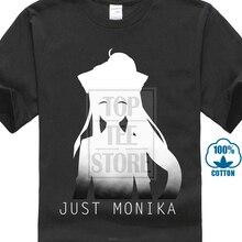 Juste Monika Doki Doki littérature Club hommes t-shirts noirs chemise vêtements
