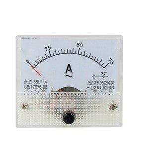 85L1 AC 0-75A Rectangle Analog Panel Ammeter Gauge