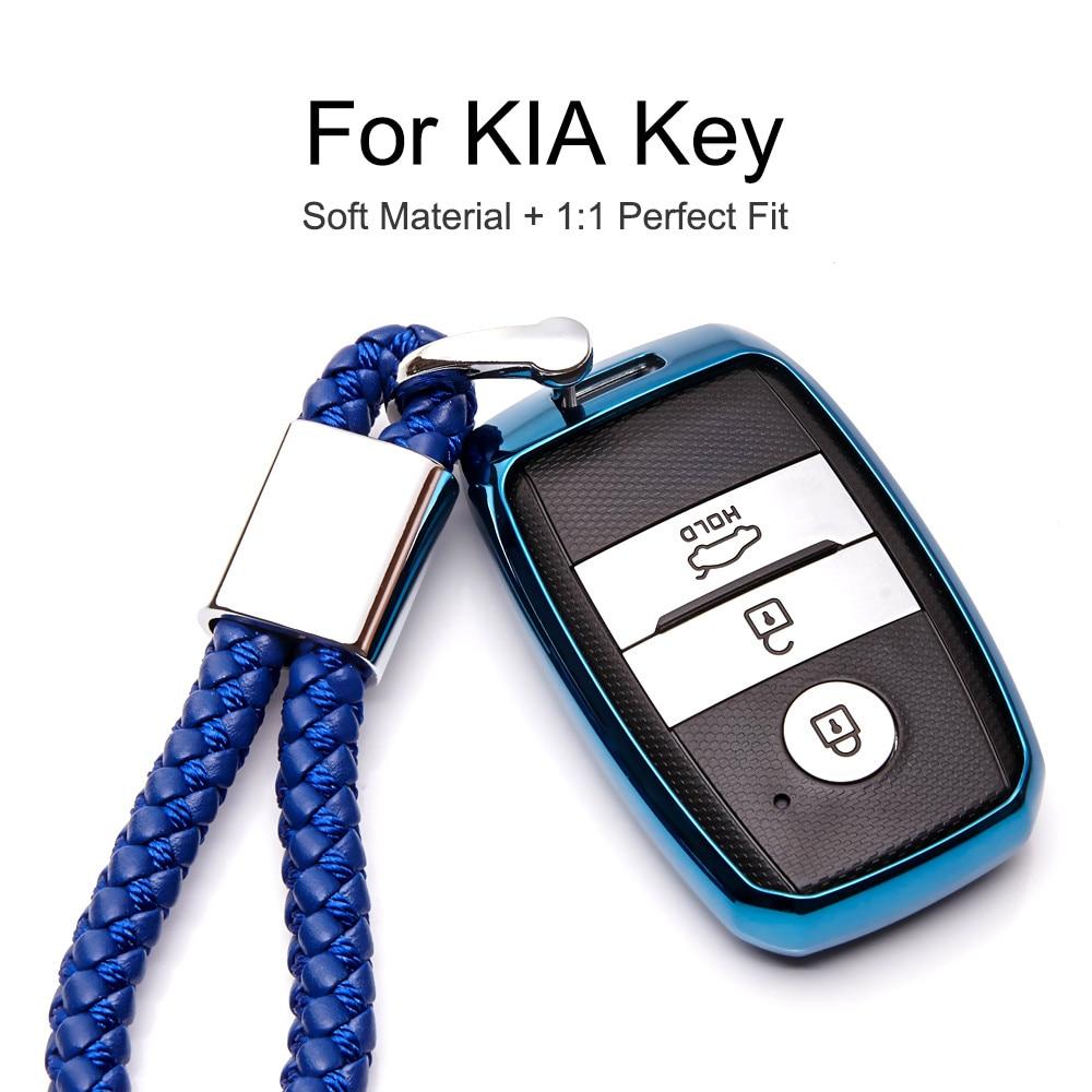Чехол для автомобильного ключа для KIA RIO SPORTAGE CEED SORENTO CERATO K2 K3 K4 K5 Мягкий защитный чехол из ТПУ чехол для стайлинга автомобиля