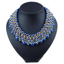 Mode bijoux de luxe perles de cristal collier ras du cou et pendentif cadeau de fête meilleur ami pour les femmes livraison gratuite en gros