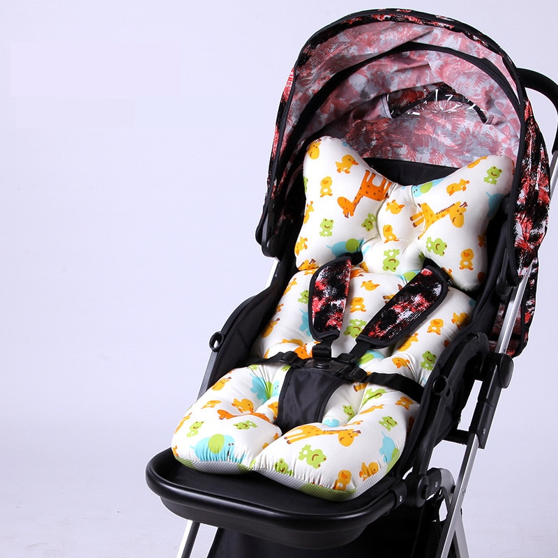 Cartoon Thick Stroller Cushion Baby Diaper Pad Baby Carriage Seat Pad Cotton Baby Stroller Mat Soft Mattress for Pram Pushchair