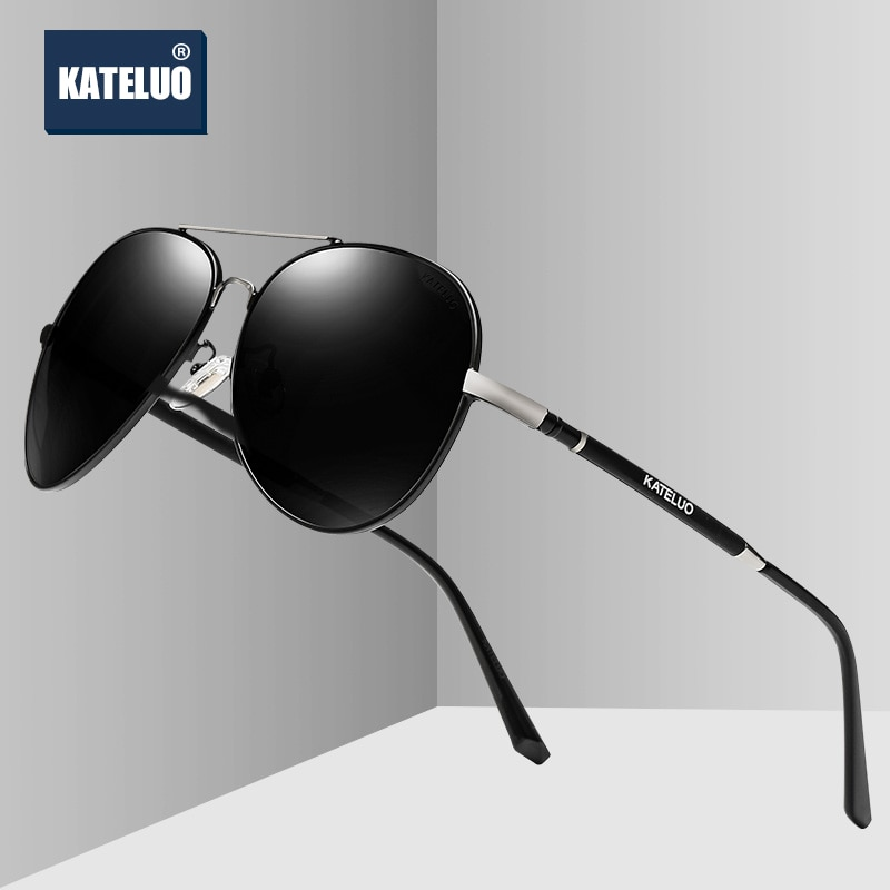 KATELUO 2020 Classic Mens Sunglasses Polarized UV400 Lens Men's Sun Glasses Military Quality Driving