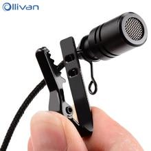 Ollivan Microphone omnidirectionnel en métal 3.5mm Jack Lavalier pince à cravate micro Mini micro Audio pour ordinateur portable téléphone portable