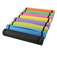 EVA Esteira da Ioga 4mm Não-slip Perder Peso Pilates Ginásio Exercício Da Aptidão Pad 183*61 cm de Espessura dobrável Forma EVA Yoga Mat Com Cinta Yoga