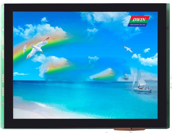 DMT10768T080_A2WT pantalla dgus, IPS pantalla LCD de ángulo completo, pantalla táctil capacitiva
