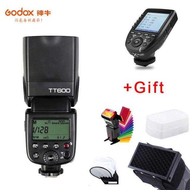 Godox TT600 GN60 HSS 1/8000s فلاش كاميرا Speedlite + 2.4G اللاسلكية Xpro-F الارسال ل فوجي XT-30 XT20 XT3 X-H1 GFX50R X-T2