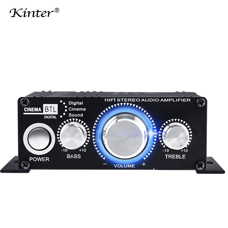 Kinter MA-170 mini verstärker audio für lautsprecher 2 kanäle DC12V home Motorrad auto verstärker stereo sound aluminium gehäuse