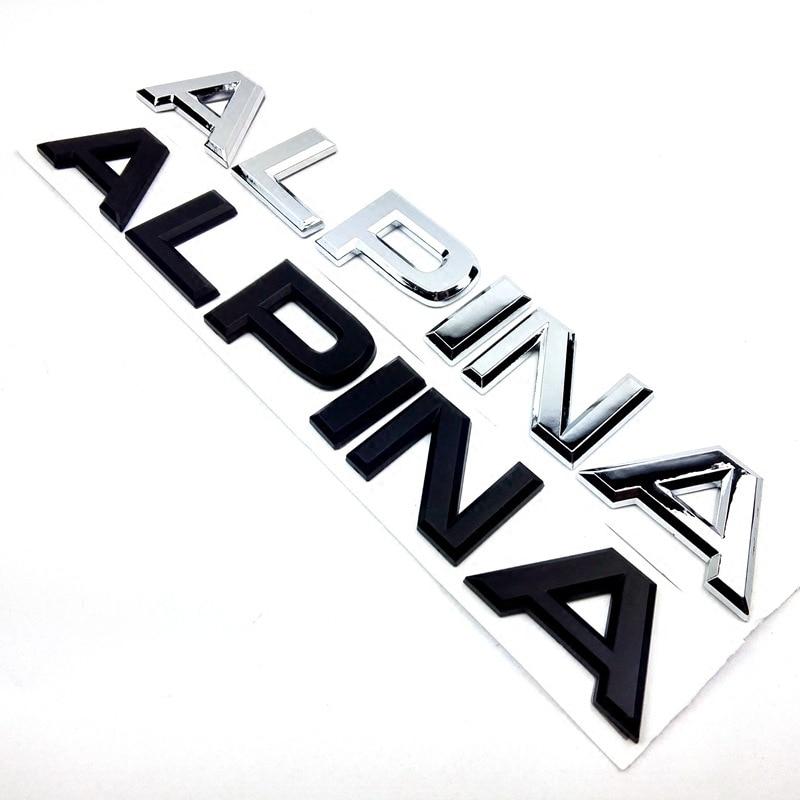 Альпина письмо багажник Задняя эмблема наклейка Наклейка для BMW E46 E39 E60 E90 E36 E53 E30 E34 F10 F30 1 3 5 7 M X Z серия Стайлинг автомобиля